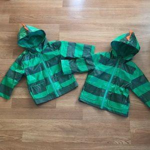 Twin Cherokee Dinosaur Lined Raincoats - 12mo
